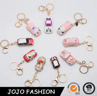2016 Newest luxury car keychain, fashion various diamante mini car key chain