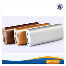 AWC236 fashion design mobile power bank 4000mah silver rohs power bank 18650 battery 5800mah