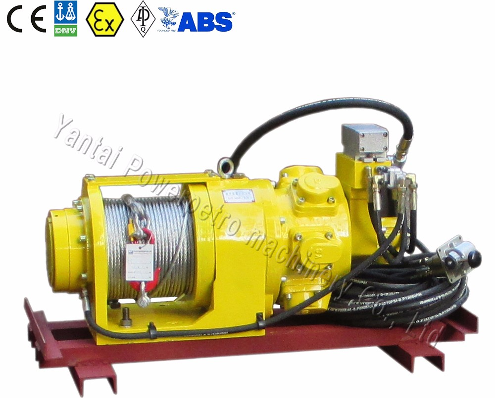 Single Drum Hand Brake Air Winch For minings(capacity 10kN)
