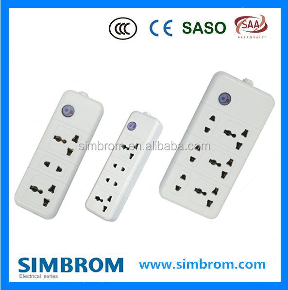 5 ways home electrical extention socket with usb universal outlet UK plug