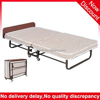 High quality low price bedroom furniture metal frame folding hotel extra bed , foldable bed