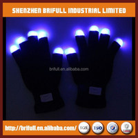 Black or white dancing magic flashing glove multi color led gloves