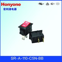 SR-A-110-C5N-BB 2 pin Mini Rocker Switch