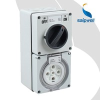SAIP/SAIPWELL New Product 32 Amp IP66 Combination Electric Switch And Socket Manufacturers In China