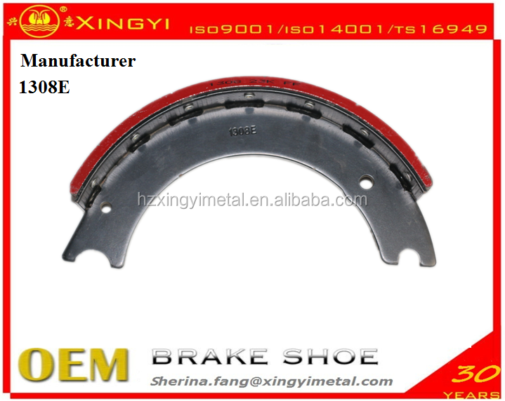 Heavy duty truck brake shoes 1308 E truck brake shoe best price brake shoe