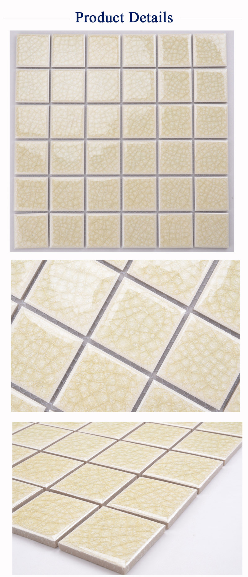 2x2' yellow dubai swimming pool mosaic tiles