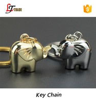 2016 promotional cheap metal elephant keychain