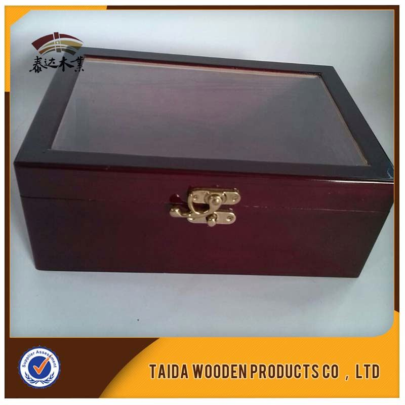 Popular Classic Premium Lacquer Locking Wooden Jewelry Box