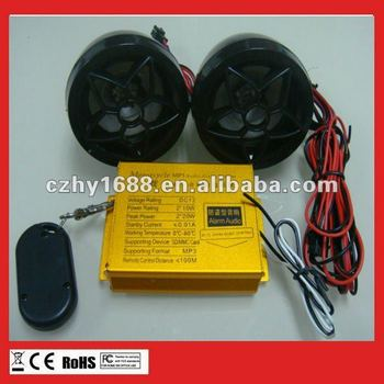 MP3 motorcycle alarm system