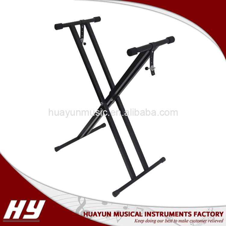Adjustable aluminum double-tube x keyboard stand