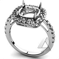 White Gold Diamond Semi Mount Rings, Diamond Engagement Rings, Wedding & Engagement Fine Jewelry Rings