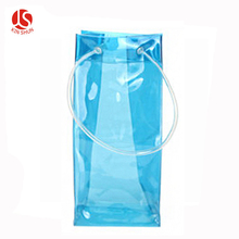 Customized Colorful Clear Plastic Ice Bags for Wine