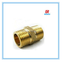 forged 1/2'' brass hex close male thread nipple for gas