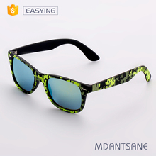 EY 005 Light up orange metal sunglasses