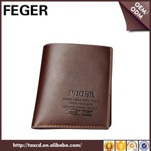 FEGER mens trending travel genuine cowhide leather wallet for sale