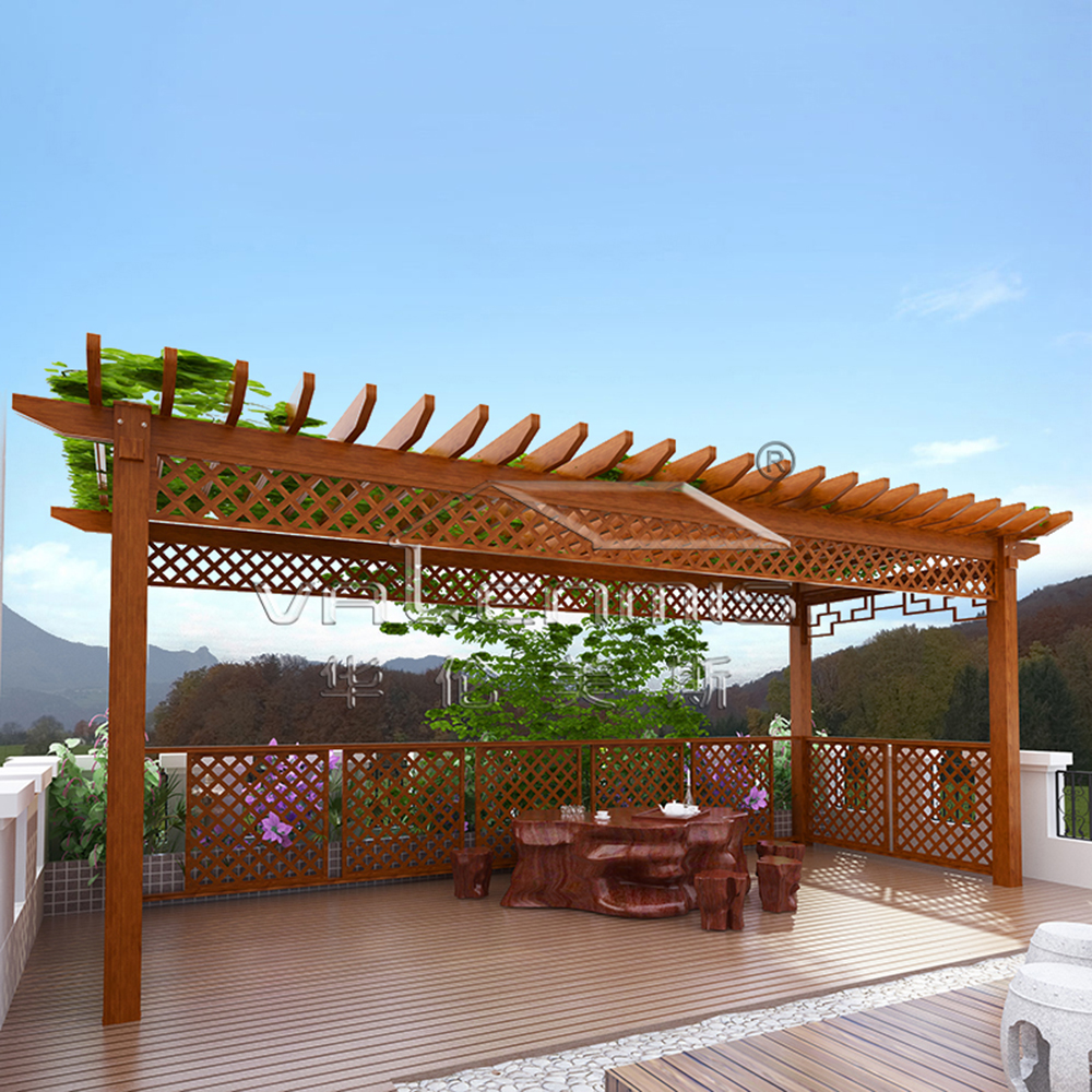 iron grill design for terrace Outdoor aluminum frame house pergola awning supports