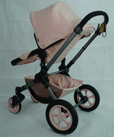 China manufacturer producing high end 3 in 1 pram baby stroller with new design pushchair w/ big wheels swivel wheels