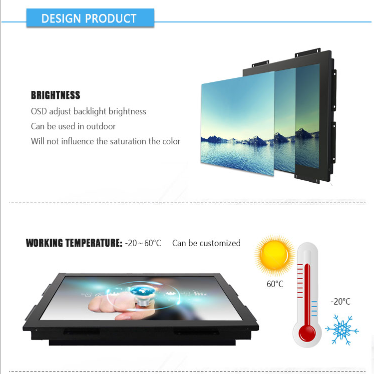 19 inch Industrielle Touch Screen Monitor Werbung Touch Screen Monitor