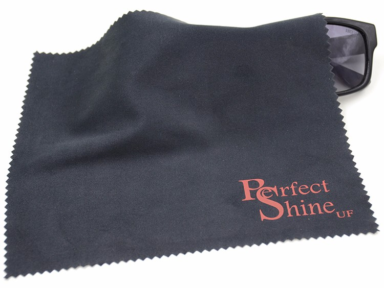 Eco-Friendly Microfiber Glasses Cleaning Towels With Custom Full Colors Logo Printed