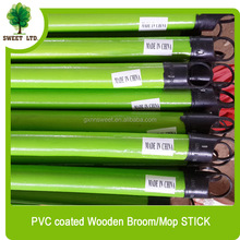 smooth colorful stick wood broom with black color short cap