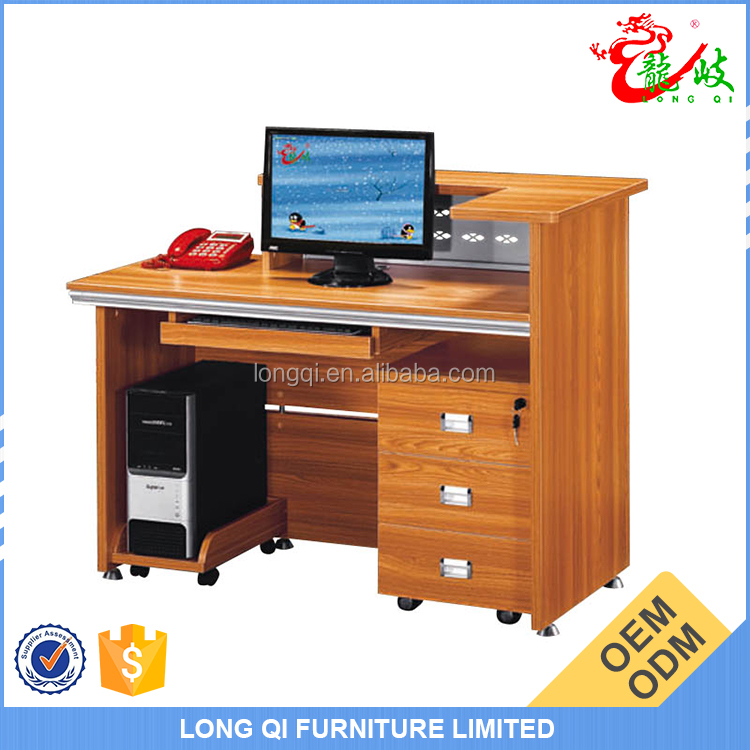 New design cheap front table with movable 3 drawer file cabinet modern office reception counter M0902