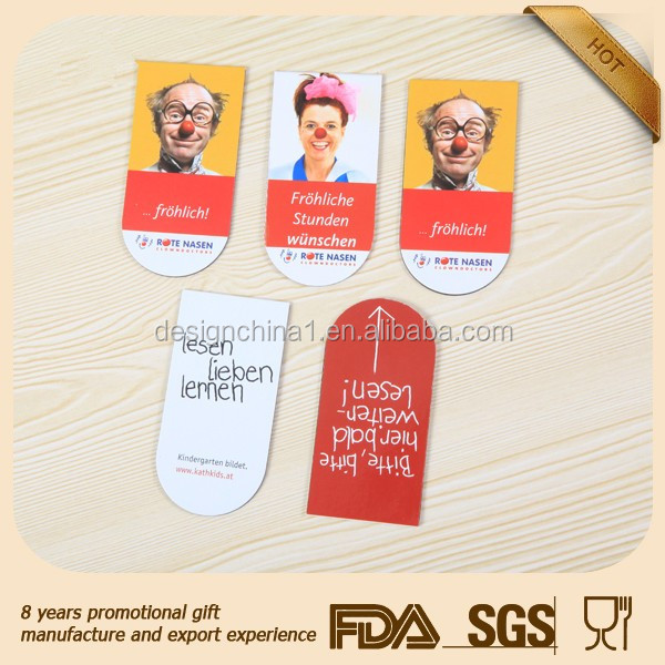 Cartoon figure printed paper promotional item fridge souvenir magnet