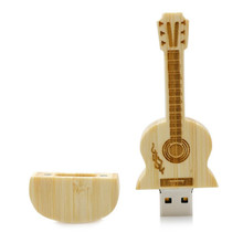 wholesale alibaba guitar-shaped pen drive wooden guitars model usb flash drive memory Stick pendrive 4GB 8G 16GB 32GB gift