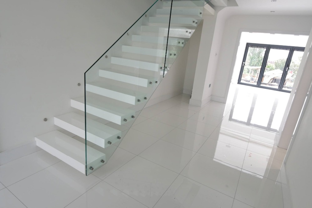 Glass staircase, Wooden stair, Wooden Carving Stair