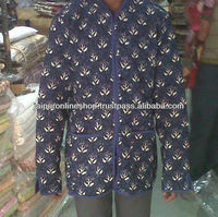 Indian Womens Handmade Cotton Coat Quilted Jacket
