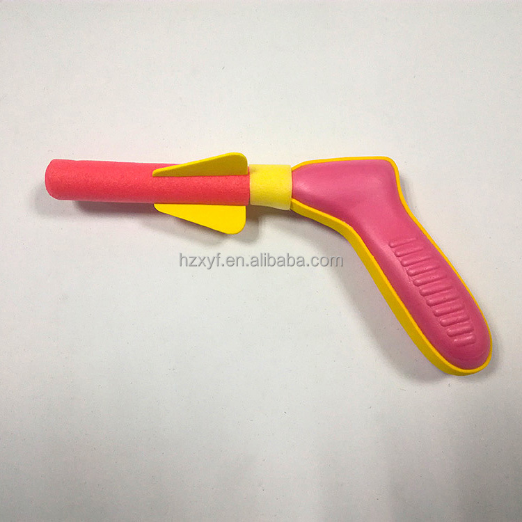 Best selling funny plastic toys eva foam air rocket