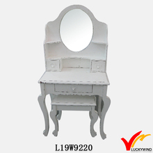 French country style antique white dressing table