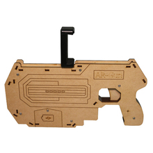 wholesale smartphone shooting game wood material virtual AR Gun crystal water bullet gun toy