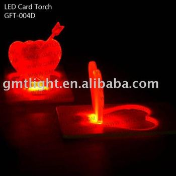 Heart Shape Mini LED Card Torch