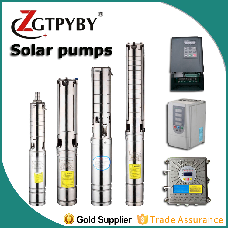 high flow solar powered water submersible pump pumps 5hp flow rate 10 qubic meter for agriculture (4SZW10-80-4)