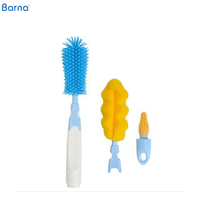 Hot Selling Baby Bottle Cleaning Sponge Brush Drain Pipe Toilet Brush With Holder New Design Brush With Plastic Handle