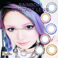 new arrival shining raibow colorful contact lens