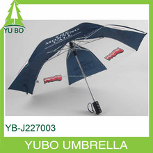 super strong windproof 2 fold umbrella, logo customized two fold auto open umbrella