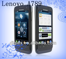 2013 New Product Original Lenovo mobile Phone A789 MTK6577 dual core 3G Android 4.0 black phone Support Russian