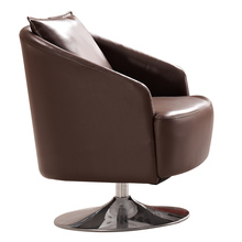 Rotating Small Leather Single Sofa Chair, Living Room Furniture