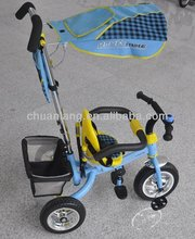2014 Popular design children trike, durable tricycle with pushbar, riding tricyle