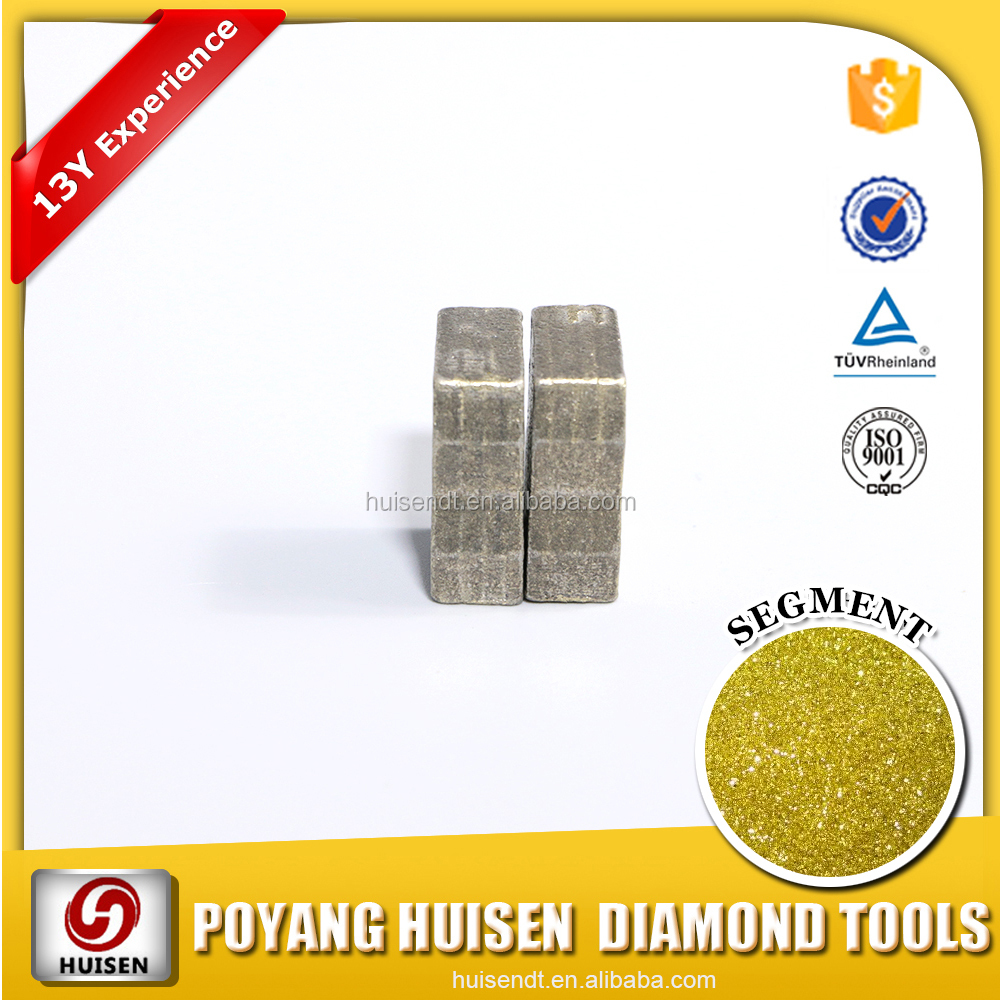 HS Diamond Tools Diamond Sand Material Crowns Segments For Jewelry Blade
