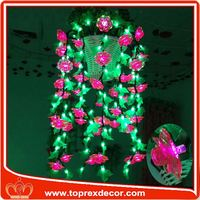 Promotional neon glowing artificial flower