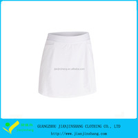 Blank Color Dri Fit Polyester Moisture Wicking Sports Tennis Skirts