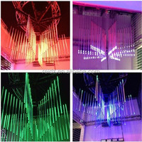 Club design 3D DMX music madrix meteor led hanging tube light for ceiling