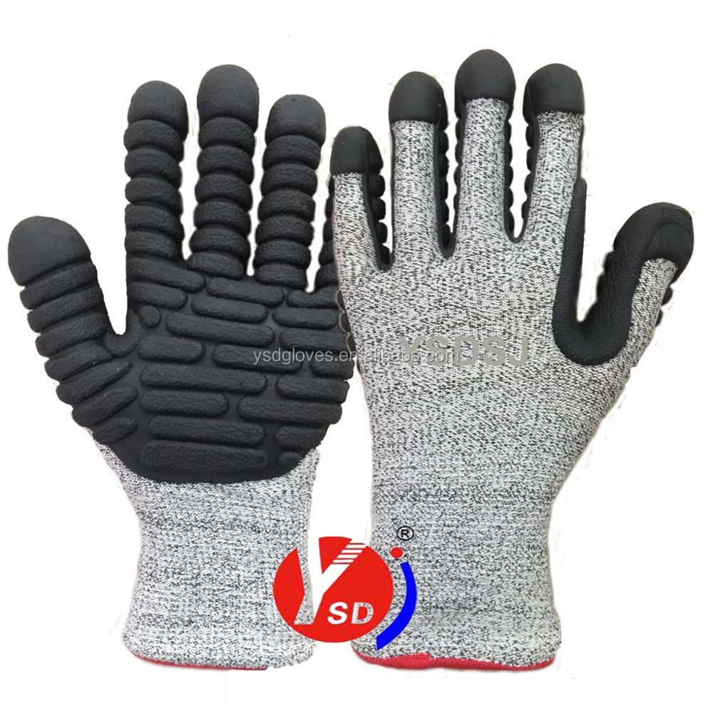 2017 NEW TPE gloves Anti vibration gloves Cut resistant working gloves