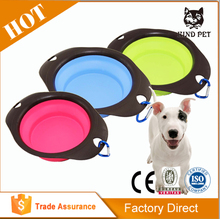 Pet Dog Cat Silicone Foldable Feeding Bowl