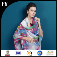 The Spring/Summer 2016 New Arrival fashion Digital Print 100% Silk Chiffon Scarf