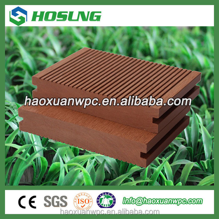 Anti-UV and waterproof Hosung Wood Plastic Composite Floorings Outdoor WPC Decking/high quality wpc board/factory price