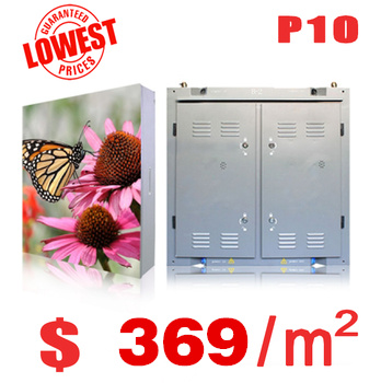 Outdoor advertising led display screen prices p10 outdoor led module