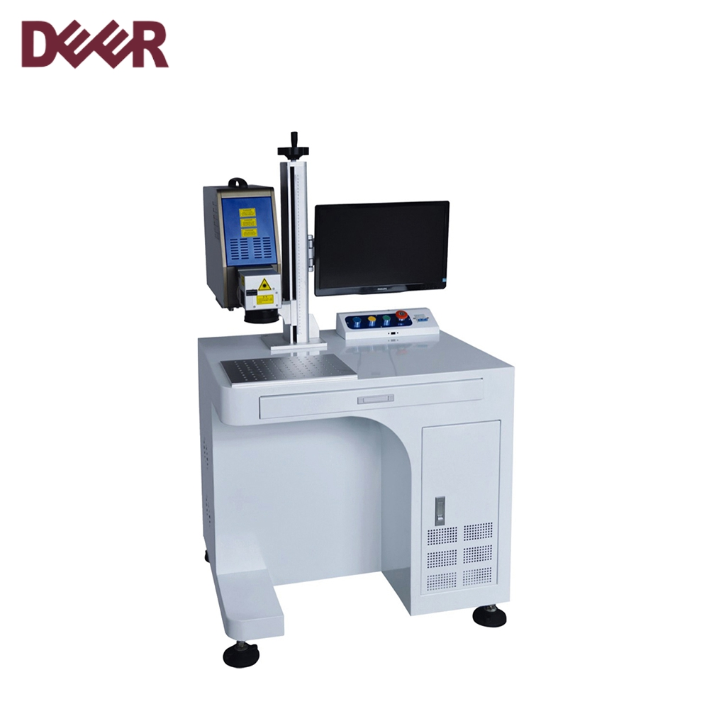 High precision mini fiber laser marking machine, portable metal laser printing machine